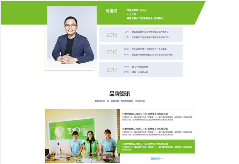企业网站开发案例